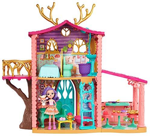 Enchantimals Casa dei Cerbiatti a Tre Stanze, Bambola Danessa e il Suo Amico Cucciolo, Giocattolo...