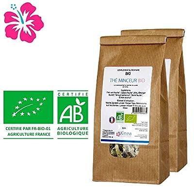 Thé minceur Bio - Fabriqué en France - Cure 30 jours - Des ingrédients 100% naturels pour atteindre vos objectifs bien-être et minceur