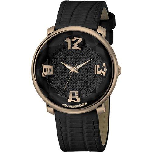 Chronotech RW0006Mens Analogue Watch, Black