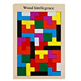 NUOLUX Holzpuzzle Spielzeug Puzzle Gehirn necken Holz Burr Tangram Puzzle Spielzeug Lernspielzeug Spiele