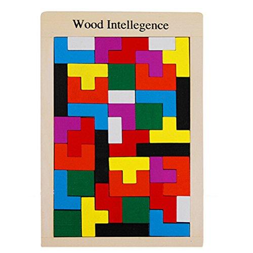 Burr (NUOLUX Holzpuzzle Spielzeug Puzzle Gehirn necken Holz Burr Tangram Puzzle Spielzeug Lernspielzeug Spiele)
