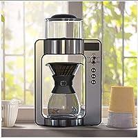 Macchina da caffè intelligentePeso netto: 5,8 kgTensione nominale: 220V/50HPotenza nominale: 1350WCapacità serbatoio acqua: 1LDimensioni: 248mm * 150mm * 416mmAccessori del prodotto: coffee host, Coppa in acciaio inox, vaso in vetro borosilicato, fil...