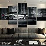 HOMOPK 5 Stück Leinwand Malerei HD Gedruckt Wandkunst Supra Fahrzeug Wohnkultur Poster Bild Für Wohnzimmer Gerahmte Gift-150x80cm_34