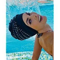 Fashy - Gorro de baño exclusivo, color negro y plateado