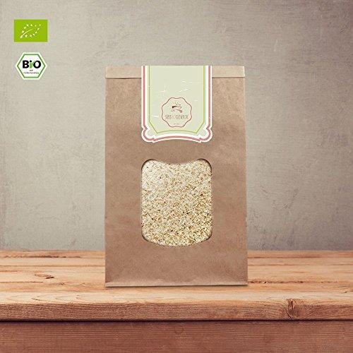 süssundclever.de® Flohsamenschalen Bio | 1 kg / 500 g | naturbelassen | ohne Zuckerzusatz | in ökologisch-nachhaltiger Bio-Verpackung