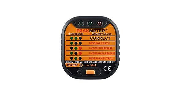 Peakmeter pm6860cr Socket Tester Outlet Tester Automatische Elektro ...