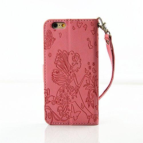 iPhone 6S Plus Hülle Blumen,iPhone 6 Plus Hülle Leder,iPhone 6S Plus Case,iPhone 6S Plus Leder Handy Tasche Wallet Case Flip Cover Etui für iPhone 6 Plus,EMAXELERS iPhone 6S Plus 5.5 Zoll Cute Blaue C Diamond Girl 5