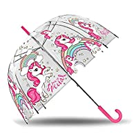 Kids Transparent Umbrella Bell 48 cm Manual of Unicorns Classic Umbrella, 80 cm, Multicolour