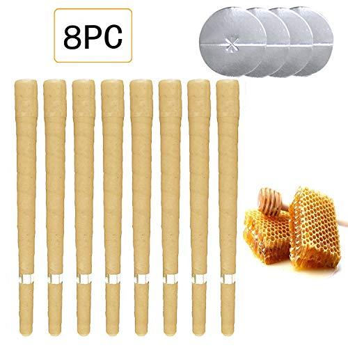 Kata velas del oído de las abejas pack de 8 (4 pares) Amarillo (Type 2+)