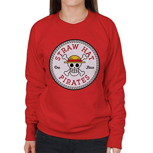 Sraw Hat Pirates One Piece Converse All Star Women's Sweatshirt