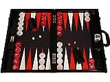 Wycliffe Brothers Backgammon compétition 3e génération - croco et surface de jeu noirs