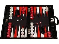 Backgammon compétition Wycliffe Brothers 3e génération - croco et surface de jeu noirs