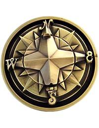 Kompass-Buckle mit echtem Kompass, Sailor, Tattoo - Gürtelschnalle