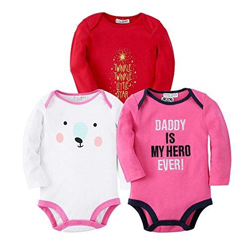 Sanlutoz Vêtements bébé garçon Nouveau-né Bodysuit Bébé fille Jumpsuit Unisexe 3 Pack (12-18 mois, R05R06R07)