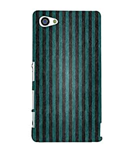 FUSON Green Vertical Strips Background 3D Hard Polycarbonate Designer Back Case Cover for Sony Xperia Z5 Compact :: Sony Xperia Z5 Mini