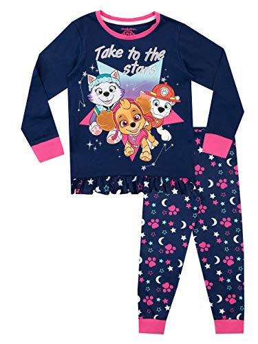 Paw Patrol Pijamas de Manga Larga para niñas La Patrulla Canina Azul 6-7 Años