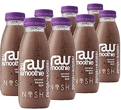 Nosh Detox 'The Raw Smoothie' – 8 x 250ml 'Restore & Rebuild' Coconut, Banana & Acai Sugar Free-Freshly Made Smoothie Detox Drink to help Weight Loss by Nosh Detox