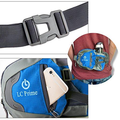 Taille Tasche,Tragbare Wasserflasche Design Auf der Taille Tasche für Reisen, und Outdoor Aktivitäten nylon fabric multied-color, by LC Prime Blau