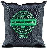 Bamboo Fresh Bambus Aktivkohle 200 Gramm Geruchsneutralisierer & Luftentfeuchter 100% Bio für Taschen Schrank Auto UVM