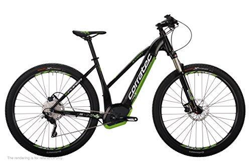 Corratec Damen E-Power X Vert 29er Performance Trapez Fahrrad, Schwarz matt/Weiß/Lime Grün, 39