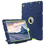 ULAK iPad Air 2 Hülle, iPad Air 2 Hülle 3in1 case Cover gemischt Hochleistungs Shock Mount Gehäuse iPad Air 2 2014 Mitteilung (6 Generationen.) - Marine