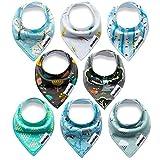 Yafane Baby Dreieckstuch Lätzchen 8er Pack Halstuch Spucktuch Lätzchen mit