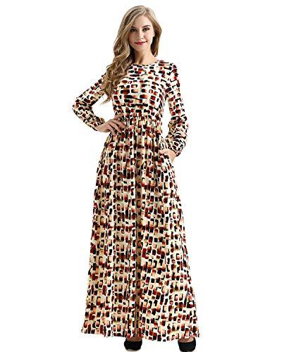 NOBLEMOON 1920er Jahre Kleid, Lange Ärmel offenem Hals, figurbetontes mexikanisches langes Plus Size Club Dress Brautkleider für ()