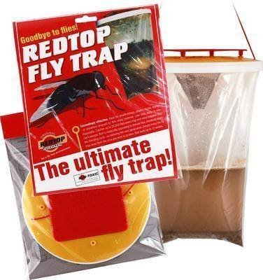 2 x Red Top Fly Trap