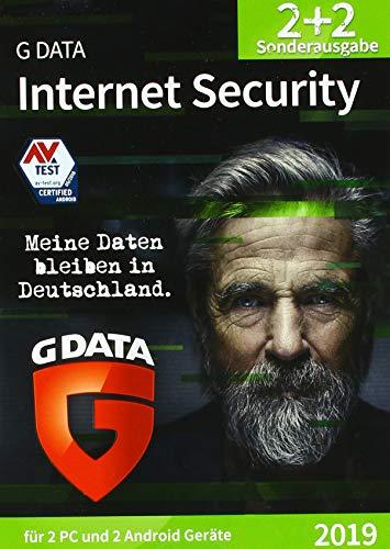 G DATA Internet Security (2019) / Antivirus Software / Virenschutz für 2 Windows-PC und 2 Android-Geräte / Trust in German Sicherheit
