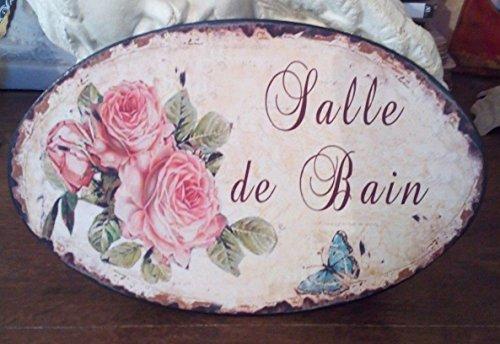 Antic Line Plaque de Porte « Salle de Bain » 15 * 23 cm