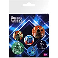 GB eye Doctor Who Retro Badge Pack