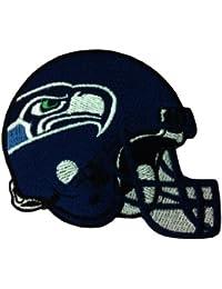 Seattle con logotipo bordado parches de hierro y casco de fútbol americano