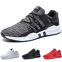 BAOLESME Herren Sportschuhe Atmungsaktiv Gym Laufschuhe Leichtgewicht Turnschuhe Freizeit Outdoor Sneaker, Grau, 43 EU