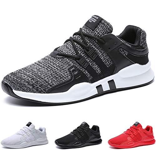 BAOLESME Sportschuhe Herren Atmungsaktiv Gym Laufschuhe Leichtgewicht Turnschuhe Freizeit Outdoor Sneaker,02-grau,EU 41