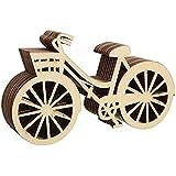 UEETEK 10pcs bicicleta de madera rústico artesanal para boda fiesta Canival Navidad año nuevo Decor