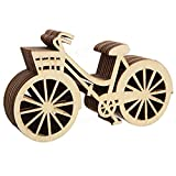 ULTNICE 10 Stück Holz Fahrrad für Rustikalen Thema Hochzeit Party Deko