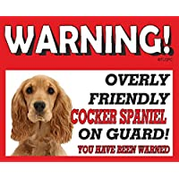 The Lazy Cow Cocker Spaniel (Brown) GUARD DOG METAL SIGN 76