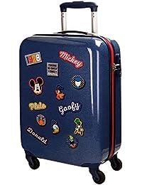 Disney Mickey Parches Equipaje Infantil, 55 cm, 33 litros, Azul