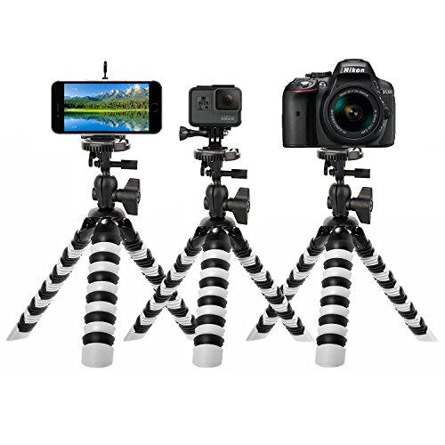 GreatCool Stativ Kamera,Stativ Handy Halterung,Stativ Spiegelreflexkamera für GoPro Hero 6/5/4/3,iphone,ipad,Phone,Action Kamera und Spiegelreflexkamera(Höhe 15–28 cm, Belastbarkeit bis 2 kg)