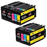 JIMIGO 950XL 951XL Druckerpatronen Ersatz für HP 950 951 Patronen Kompatibel mit HP Officejet Pro 8600 8610 8620 8615 8100 8630 251dw 276dw (3 Schwarz, 2 Cyan, 2 Magenta, 2 Gelb)