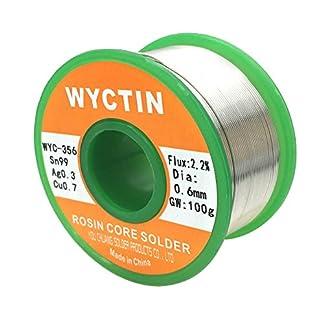 wyctin 3560,6mm alambre de soldadura sin plomo SN 99-ag 0.3-cu 0,7carrete de estaño con núcleo de resina, 0.22lb (100G)