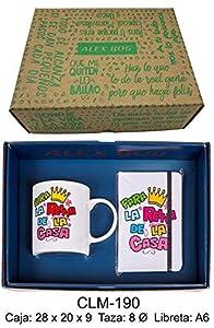 REGALO- Conjunto libreta y Taza mug con Mensaje,para la Reina de la Sets de Material Escolar (RM 1)