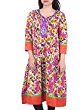 Bleuindus Embroidery Work Floral Printed...