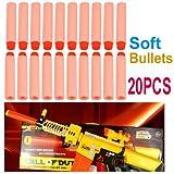 20 pcs souple Bullets Bullet de sécurité Fléchettes Pour Nerf Blaster Gun Toy