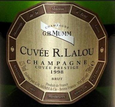 MUMM René Lalou - Cuvée prestige 1998, Champagne