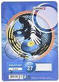 LANDRE 100050488 Ringbucheinlagen A4 50 Blatt liniert mit Doppelrand 70 g/m² runde Ecken gelocht Ringbuch-Einlage Papier-Einlage