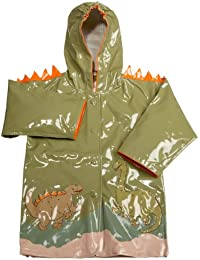 Kidorable Dinosaur Raincoat, Green, 3t