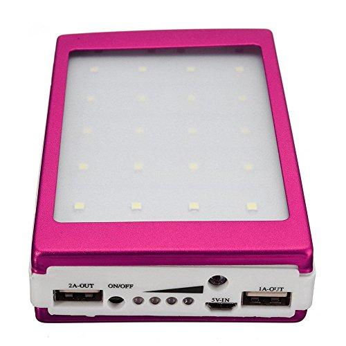 Solar LED Portátil Dual USB Banco de energía 5x18650 Caja de bricolaje con cargador externo de bateríaNOTA:1.Este es un kit de banco de energía (incluida la placa de circuito y la carcasa), no un producto terminado. Debes comprar 5 * 18650 baterías e...