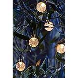 Auraglow solarbetriebene LED Lichterkette mit 20 Set dekorativen Garten Fee licht …