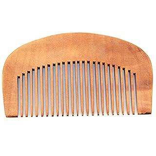 Alcyoneus Natürlicher Pfirsichholzkamm für die Haarpflege, eng anliegende Zähne, antistatische Kopfmassage